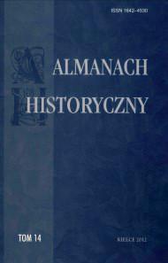 Zdjęcie okładki czasopisma pt. Almanach Historyczny