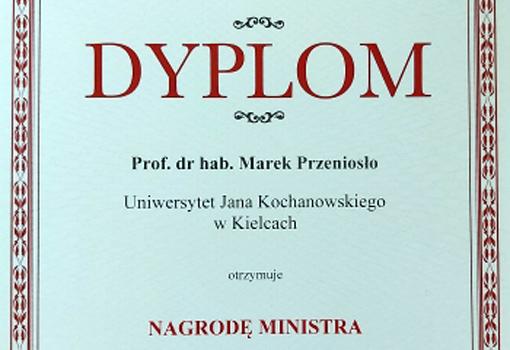 Dyplom Prof. Marka Przeniosło